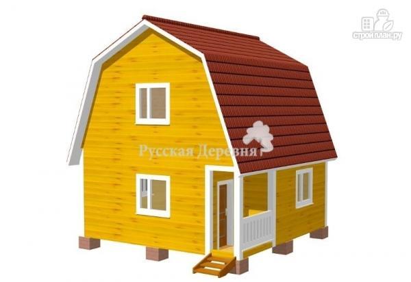 Фото: проект дом 6х6 с крыльцом