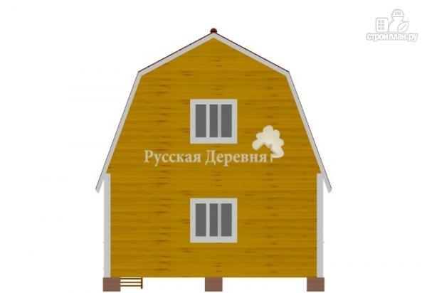 Фото 5: проект дом 6х6 с крыльцом