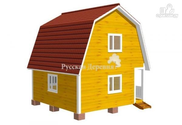 Фото 2: проект дом 6х6 с крыльцом