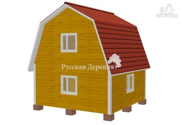 Фото 3: проект дом 6х6 с крыльцом