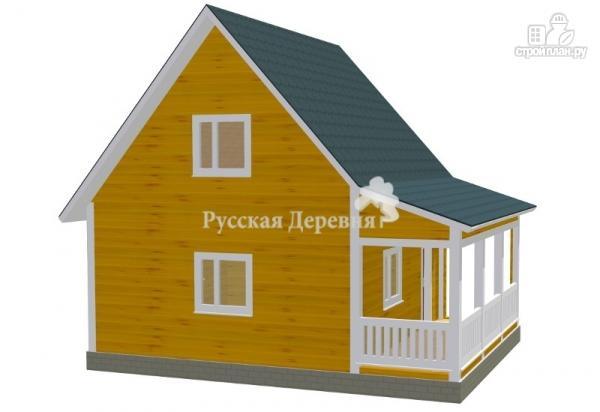 Фото 2: проект дачный дом 6х6 с террасой 2х6