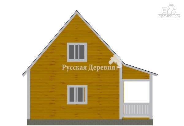 Фото 4: проект дачный дом 6х6 с террасой 2х6