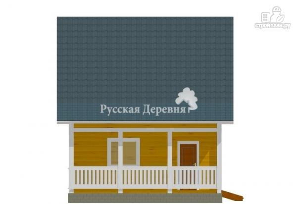 Фото 3: проект дачный дом 6х6 с террасой 2х6