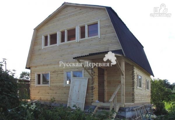 Фото 5: проект дом 6х6 с крыльцом 1х2 и мансардным этажом
