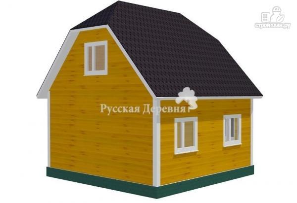 Фото 2: проект дом 6х6 с крыльцом 3х1,5