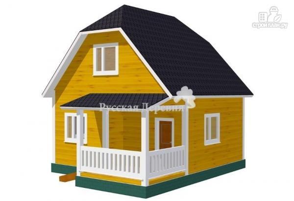 Фото: проект дом 6х6 с крыльцом 3х1,5