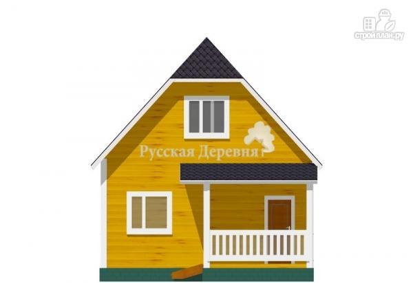 Фото 3: проект дом 6х6 с крыльцом 3х1,5