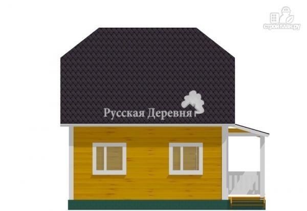 Фото 4: проект дом 6х6 с крыльцом 3х1,5