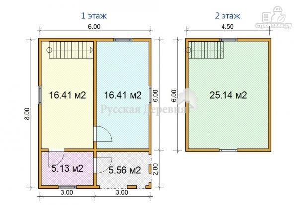 Фото 3: проект мансардный дачный дом 6х6