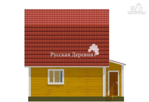 Фото 4: проект мансардный дачный дом 6х6 с крыльцом 1х1,5