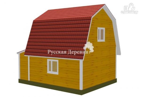 Фото 2: проект мансардный дачный дом 6х6 с крыльцом 1х1,5