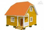 Фото: дом с угловым крыльцом
