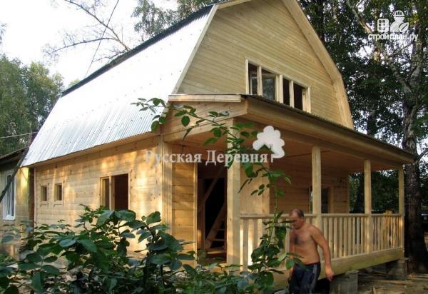 Фото 3: проект мансардный трехкомнатный дом 6х6 с террасой 6х1,5