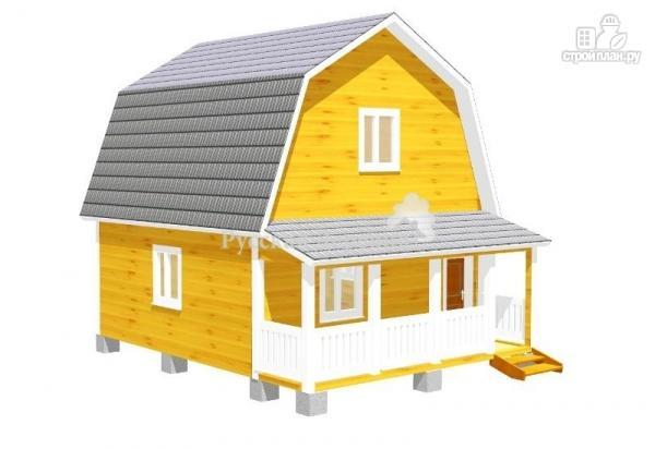 Фото: проект мансардный трехкомнатный дом 6х6 с террасой 6х1,5