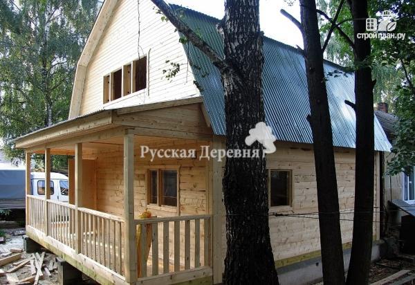 Фото 4: проект мансардный трехкомнатный дом 6х6 с террасой 6х1,5