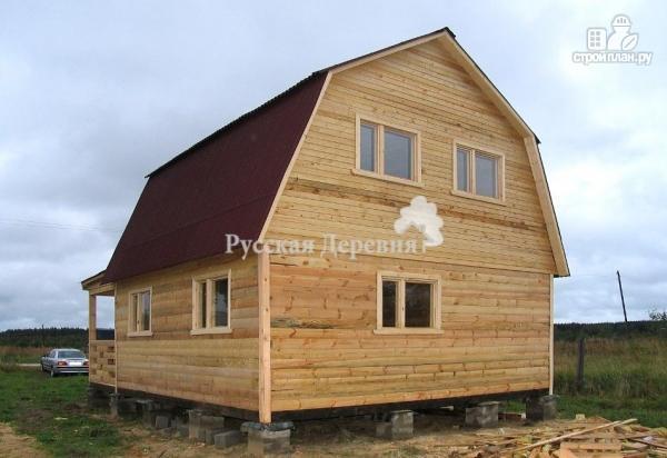 Фото 6: проект мансардный трехкомнатный дом 6х6 с террасой 6х1,5