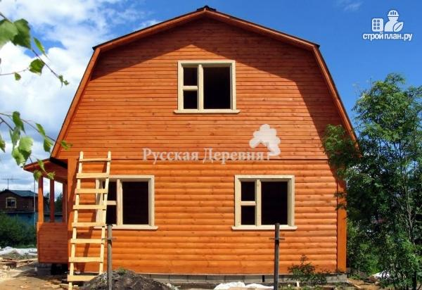 Фото 5: проект брусовой дом  6х6 с крыльцом 1,5х2