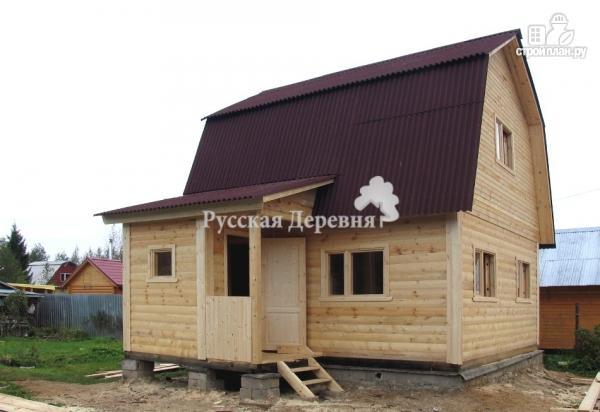 Фото 2: проект брусовой дом  6х6 с крыльцом 1,5х2