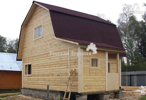 Фото 3: проект брусовой дом  6х6 с крыльцом 1,5х2