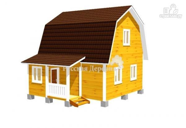 Фото: проект брусовой дом  6х6 с крыльцом 1,5х2