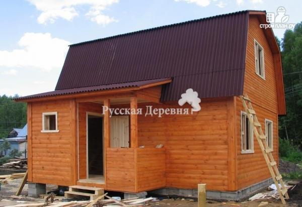Фото 6: проект брусовой дом  6х6 с крыльцом 1,5х2