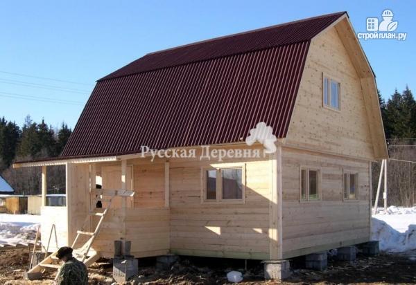 Фото 2: проект домик 6х6 с крыльцом 2х4 и мансардным этажом