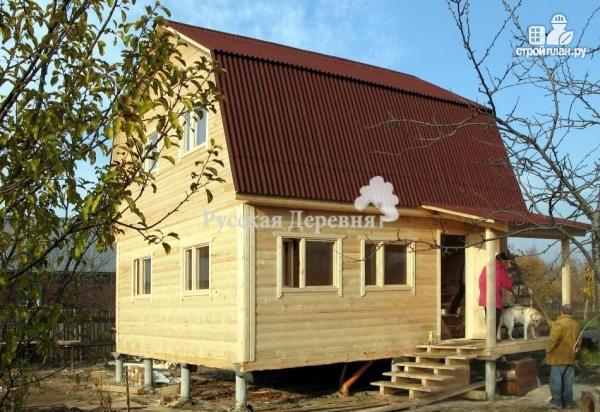 Фото 4: проект домик 6х6 с крыльцом 2х4 и мансардным этажом