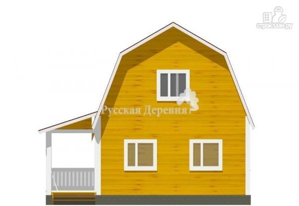 Фото 3: проект мансардный дачный дом 6х6 с крыльцом 2х4