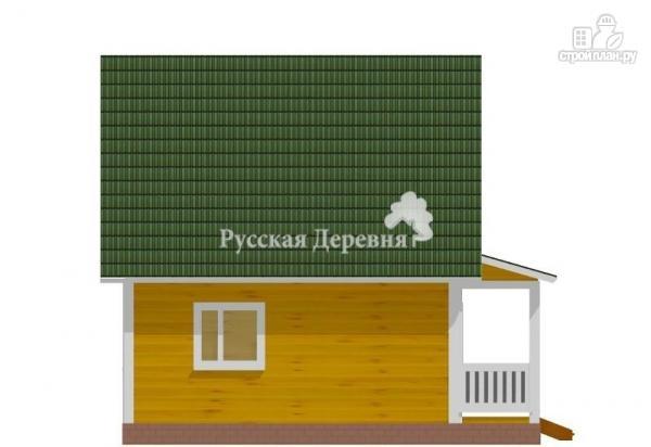 Фото 4: проект русский дом 6х6 с прямой крышей, крыльцом 4х1,5 и мансардой