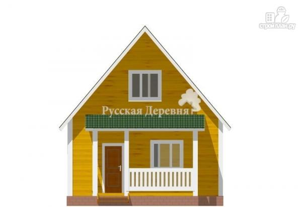 Фото 3: проект русский дом 6х6 с прямой крышей, крыльцом 4х1,5 и мансардой