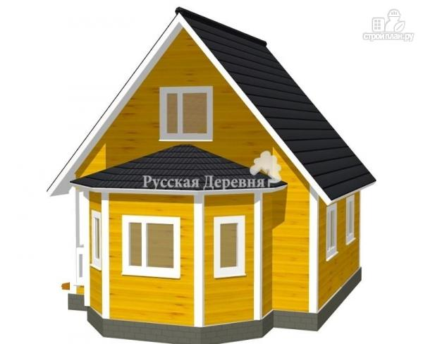 Фото 2: проект загородный дом 6х6 с эркером и крыльцом 1х3