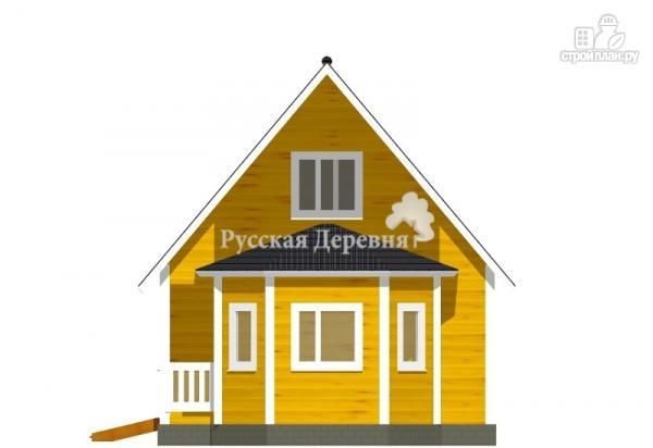 Фото 3: проект загородный дом 6х6 с эркером и крыльцом 1х3