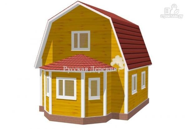 Фото: проект дом с крылечком, эркером и мансардой