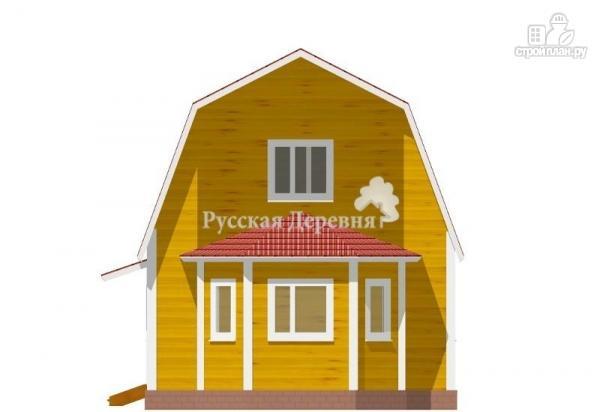 Фото 3: проект дом с крылечком, эркером и мансардой