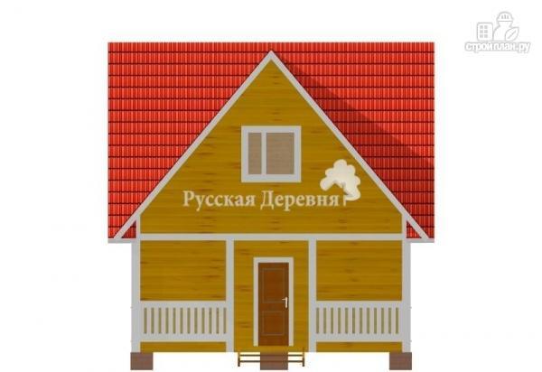 Фото 3: проект загородный трехфронтонный дом 4,5х6 с мансардой и террасой 1,5х6