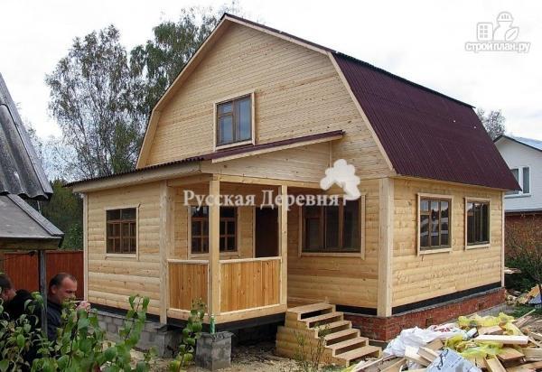 Фото 3: проект загородный мансардный дом 6х6 с крыльцом 1х2