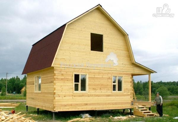 Фото 4: проект дом загородный 6х6 с крыльцом и  мансардой