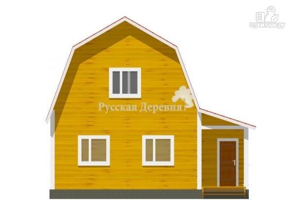 Фото 3: проект дом загородный 6х6 с крыльцом и  мансардой