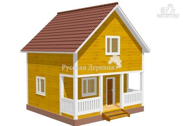 Фото: проект загородный мансардный дом 6х4,5 с террасой 6х1,5