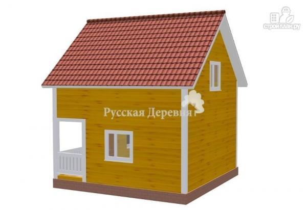Фото 2: проект загородный мансардный дом 6х4,5 с террасой 6х1,5