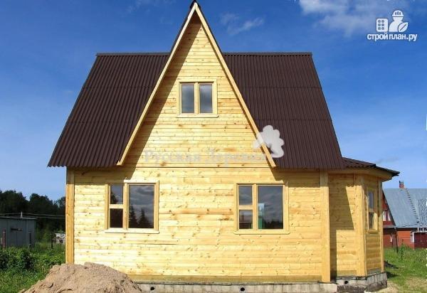 Фото 3: проект мансардный дом 6х6 с эркером 4х2