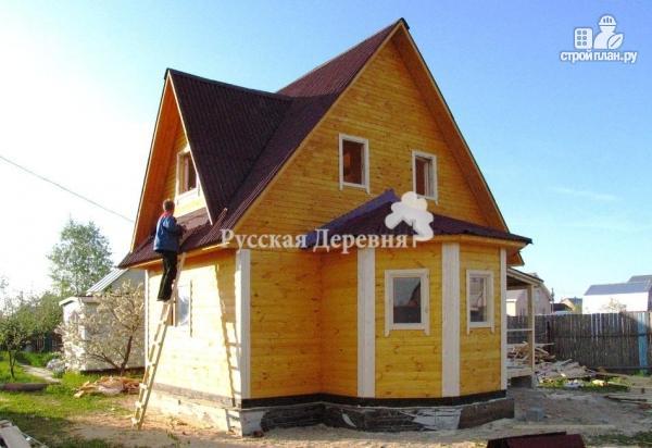 Фото 2: проект мансардный дом 6х6 с эркером 4х2