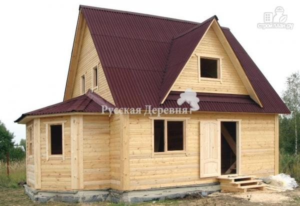 Фото 6: проект мансардный дом 6х6 с эркером 4х2