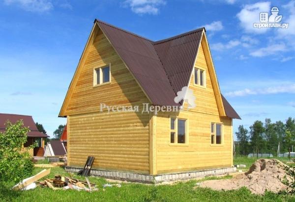 Фото 4: проект мансардный дом 6х6 с эркером 4х2