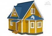 """Проект эркерный загородный дом с мансардными окнами - """"кукушка"""""""