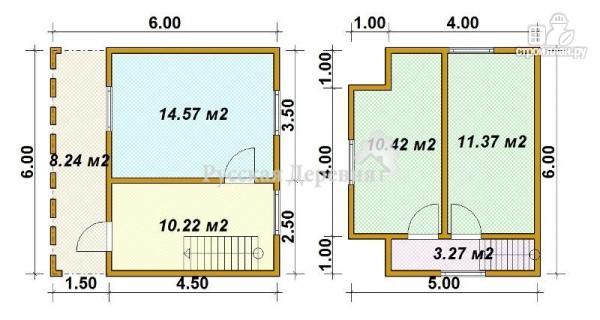 Фото 5: проект трехфронтонный дом с мансардой и террасой 1,5х6