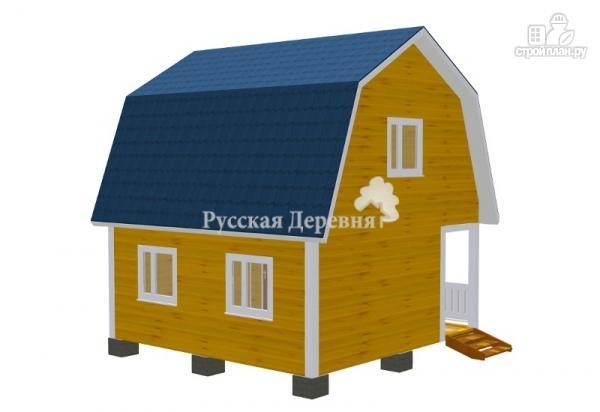Фото 2: проект трехфронтонный дом с мансардой и террасой 1,5х6