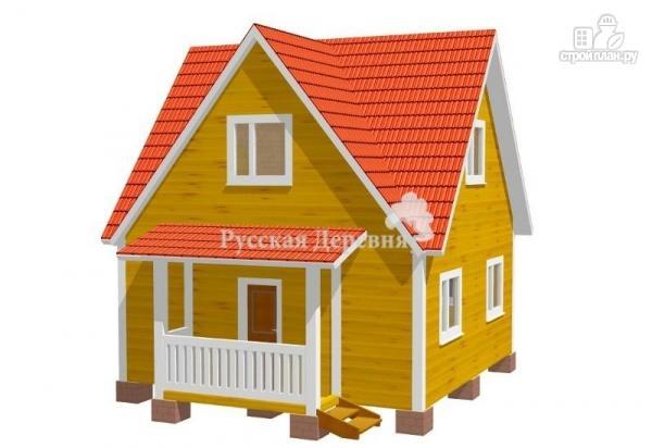 Фото: проект дом трехфронтонный  6х6 с крыльцом 1х3 и мансардой