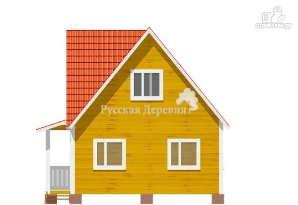 Фото 4: проект дом трехфронтонный  6х6 с крыльцом 1х3 и мансардой