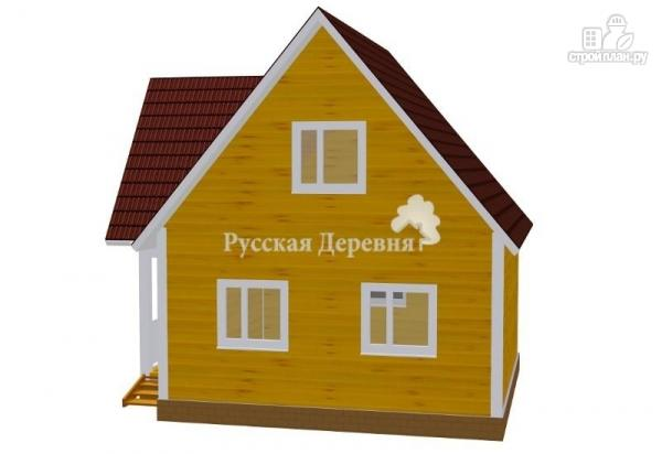 Фото 3: проект трехфронтонный мансардный дом 6х6 с крыльцом 3х1 и балконом